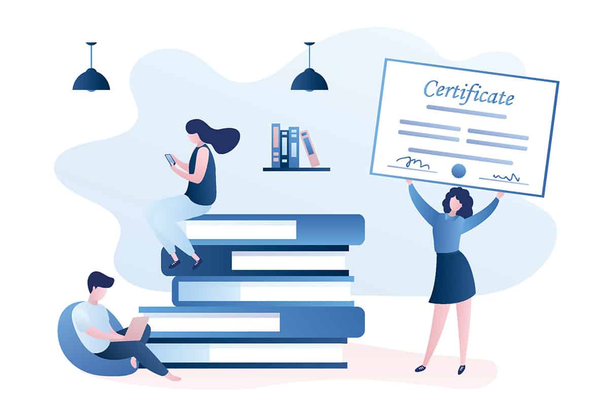 Woman earned certificate with help from certification management system